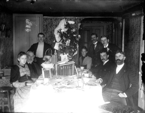 Pearsall Family Christmas Dinner-Melrose FL-1893. RC18410.